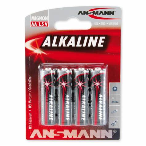 ANSMANN Mignon - AA size - Pack of 4,Non - Rechargeable Batteries,Red Line Alkaline Range