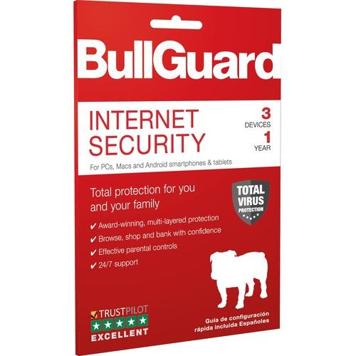 BullGuard Internet Security- 1YR / 3Devices