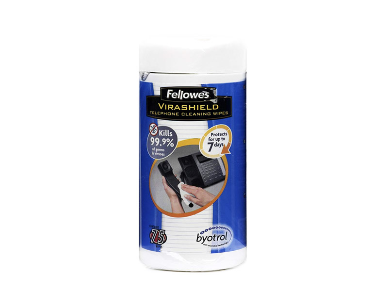 Fellowes VIRASHIELD TELEPHONE CLEANING WIPES