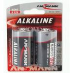 ANSMANN Mono - D size - Pack of 2,Non - Rechargeable Batteries,Red Line Alkaline Range