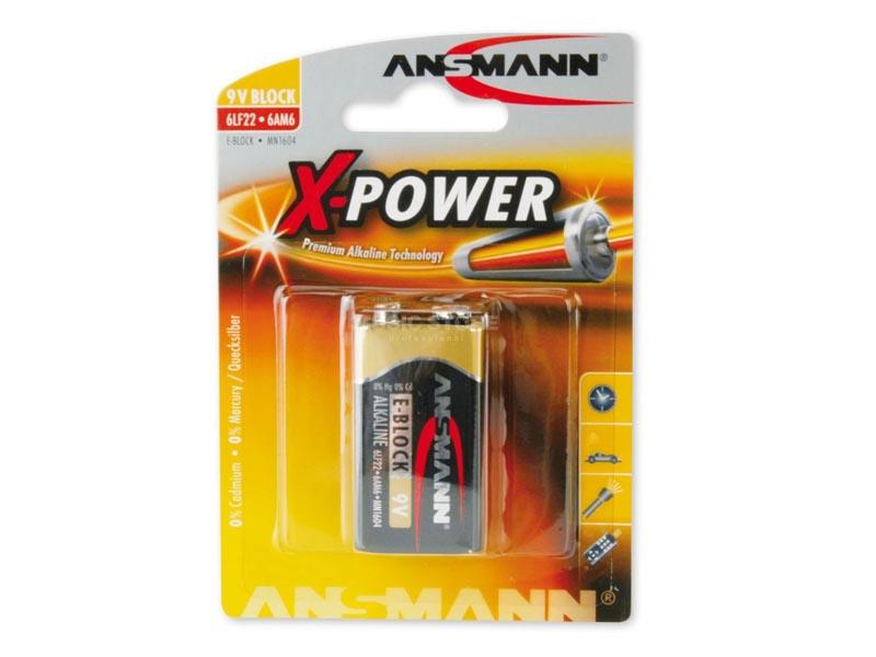 ANSMANN 9V E-Block - Pack of 1,Non - Rechargeable Batteries,X-Power Alkaline Range